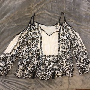 Charlotte Russe cold shoulder shirt